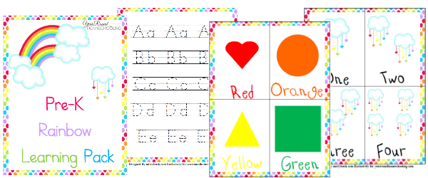 Free Rainbow Learning Pack (Pre-K)