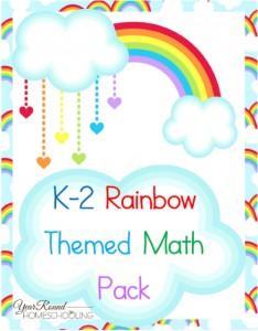 Free Rainbow Math Pack (K-2)