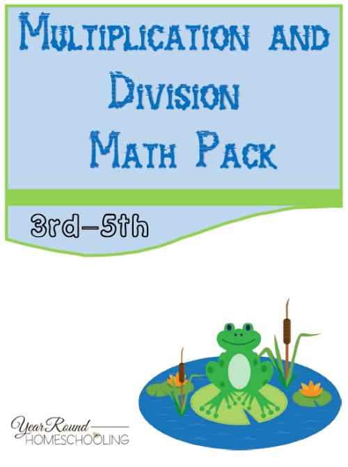 Frog Multiplication and Division Math Pack (3rd-5th)