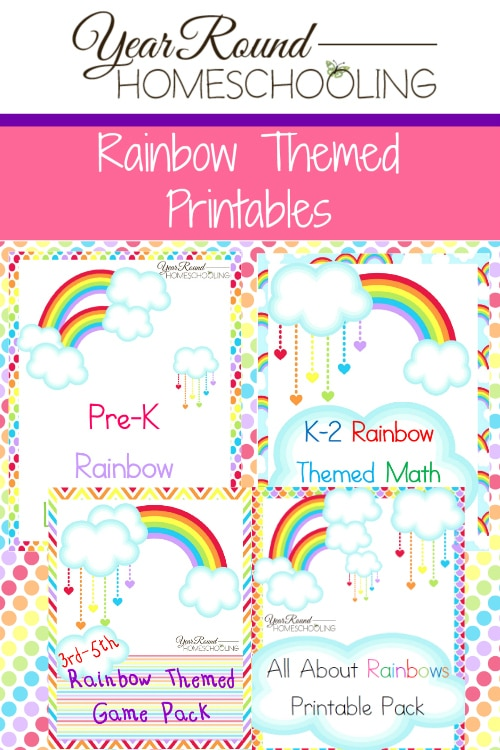 Calendar Math Printables : Free rainbow printables year round homeschooling