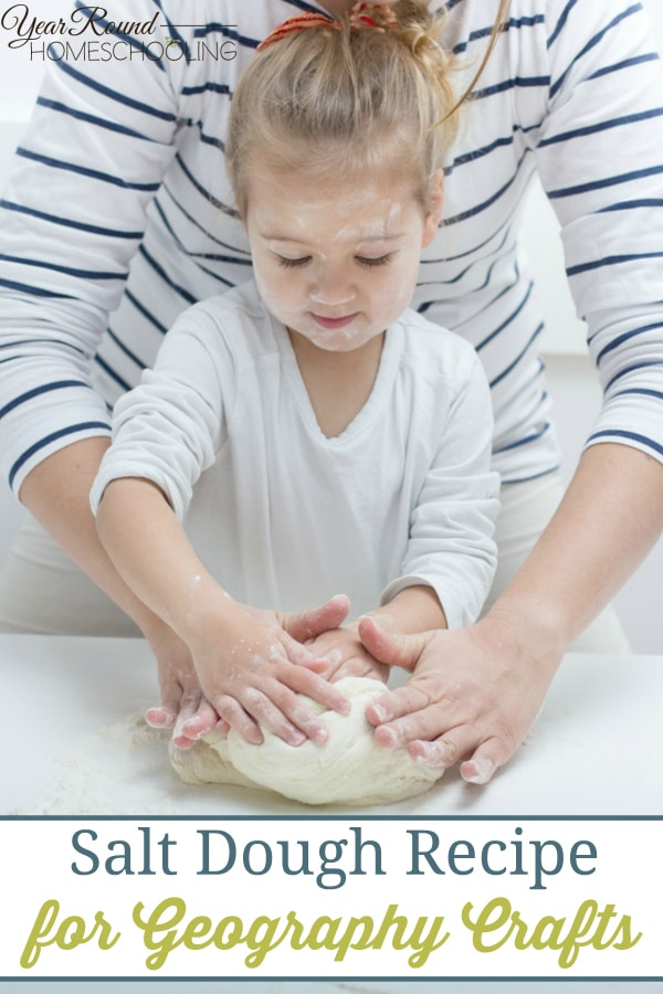 salt dough recipe, salt dough, geography, homeschool, homeschooling