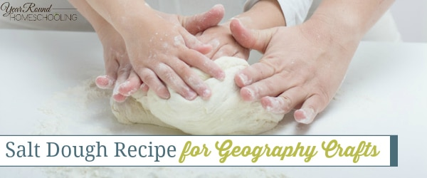 Salt Dough Recipe for Geography Crafts