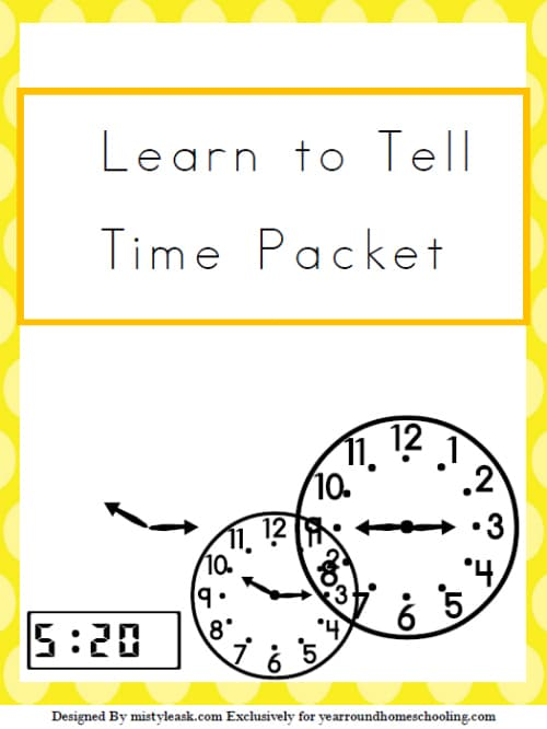 Learn to Tell Time Pack