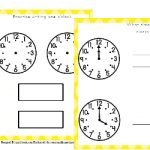 Free Learn to Tell Time Packet