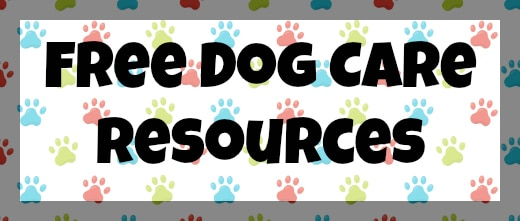 Free Dog Care Resources