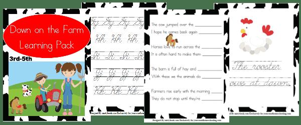 farm, 3rd-5th, elementary, homeschool, homeschooling, worksheets, printable