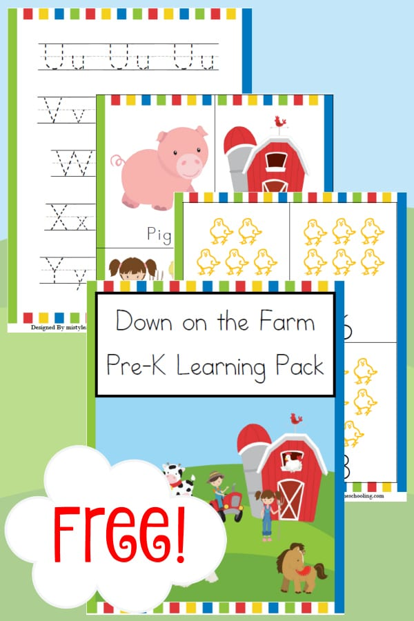 Free Down on the Farm Pre-K Learning Pack - Year Round ...