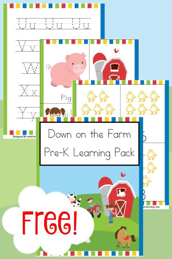 farm, prek, preschool, homeschool, homeschooling, printable, worksheets