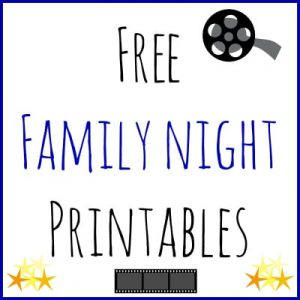 Free Family Night Printables