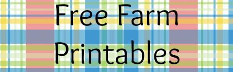Free Farm Printables