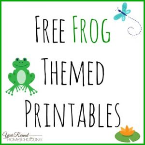 Free Frog Themed Printables