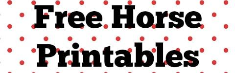 Free Horse Printables