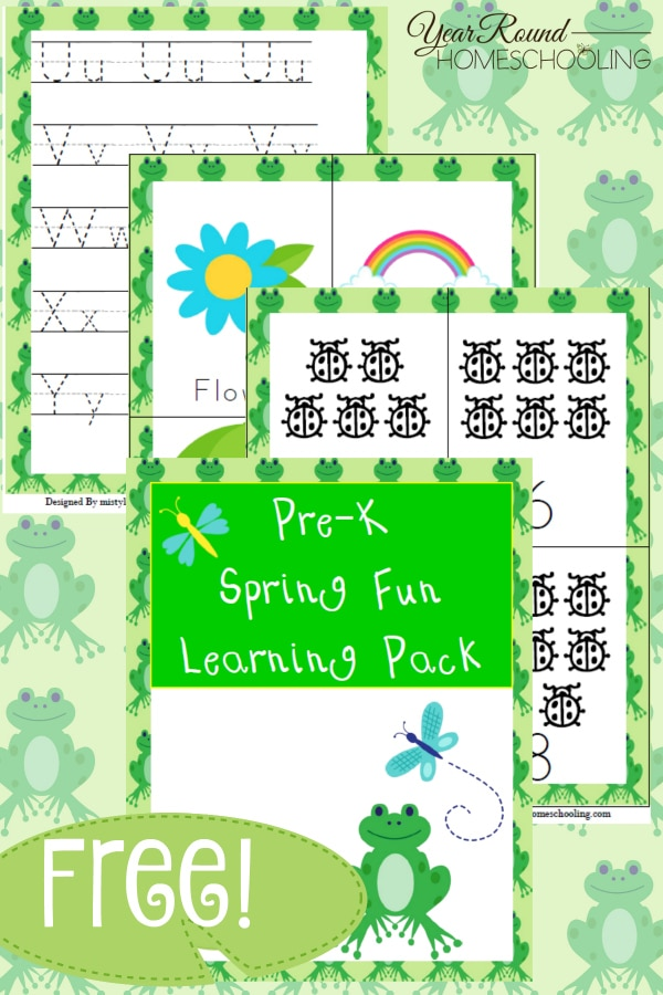 Free Spring Pre K Learning Pack Year Round Homeschooling