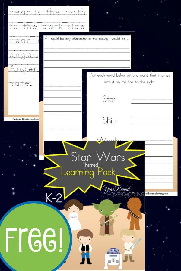 star wars, star wars kindergarten, k-2, homeschool, homeschooling, worksheets, printable