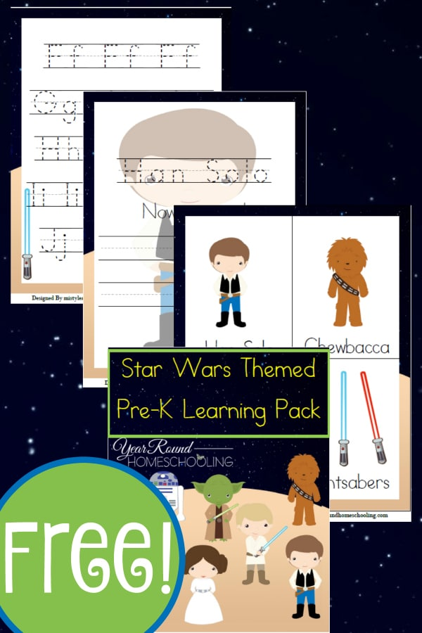 star wars, star wars prek, preschool, prek, homeschool, homeschooling, worksheets, printable