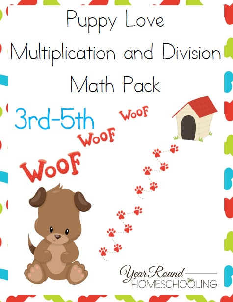 Puppy Love Math Pack (3rd-5th)