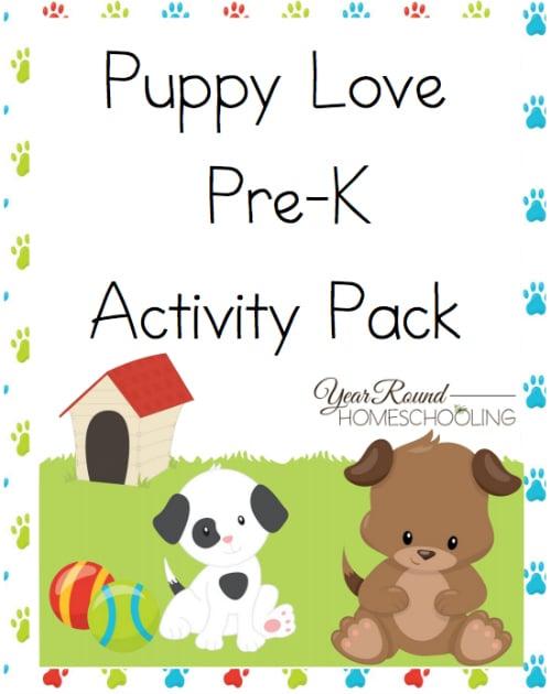Puppy Love Pre-K Activity Pack