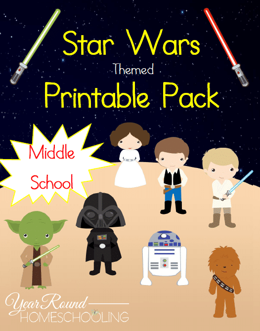 Star Wars Printables (Middle School)