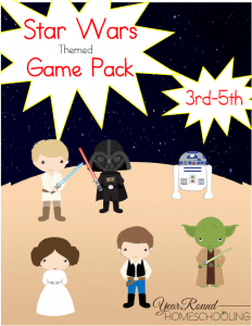 Free Star Wars Themed 3rd-5th Game Pack