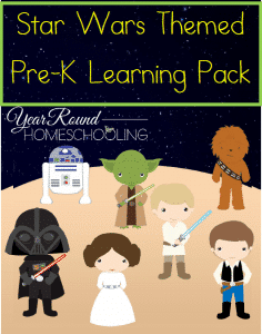 Free Star Wars Themed Pre-K Learning Pack
