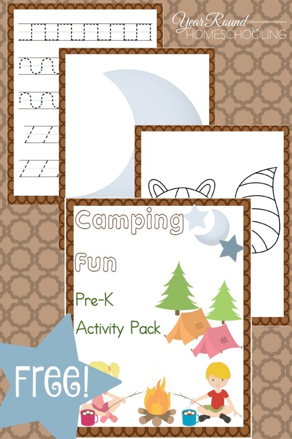 camping, prek, preschool, homeschool, homeschooling, worksheets, printable