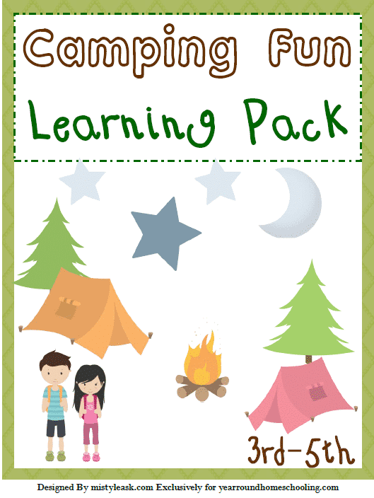 Camping Fun 3rd-5th Learning Pack