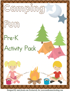 Free Camping Fun Pre-K Activity Pack
