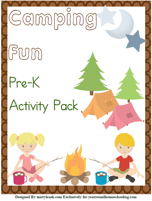 Camping Fun Pre-K Activity Pack