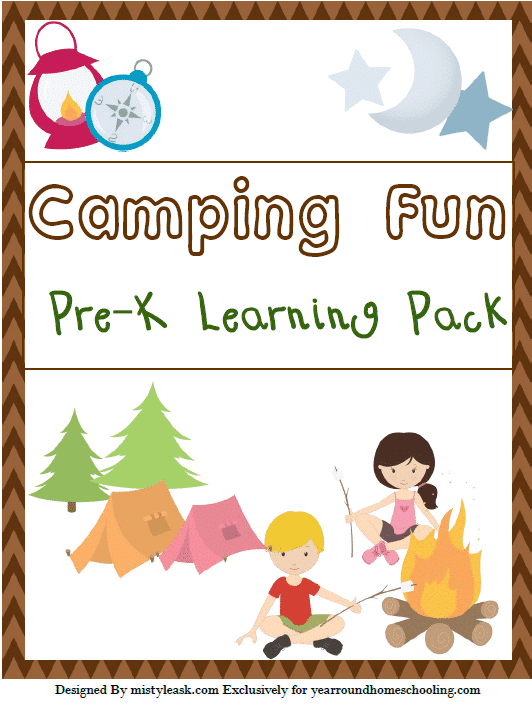 Camping Fun Pre K Learning Pack