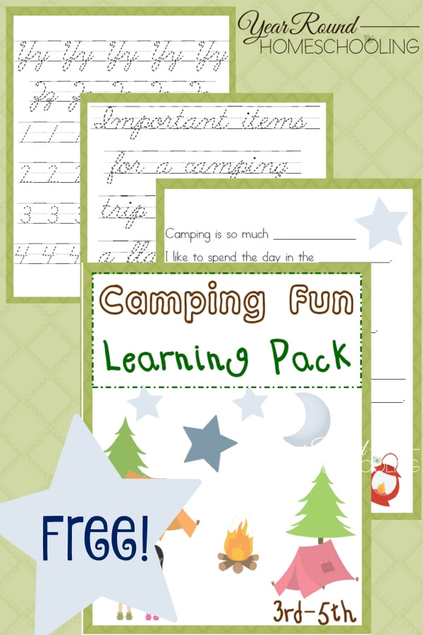 camping, elementary, 3rd-5th, homeschool, homeschooling, worksheet, printable