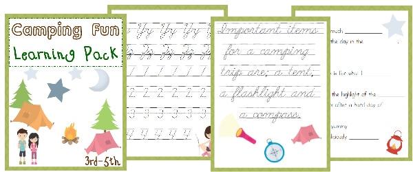 camping, elementary, 3rd-5th, homeschool, homeschooling, worksheet, printable