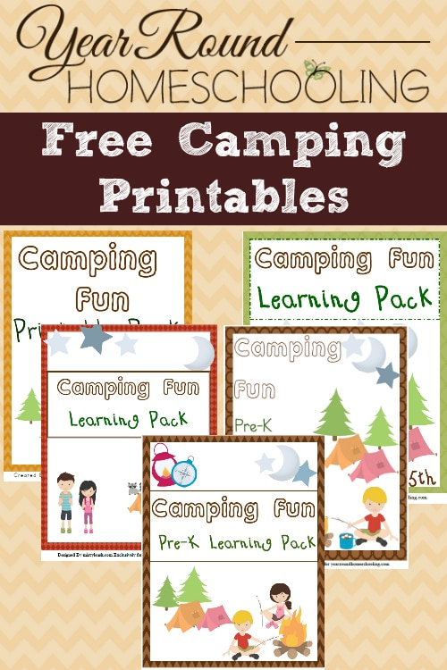 Free Camping Printables - PreK through Middle School