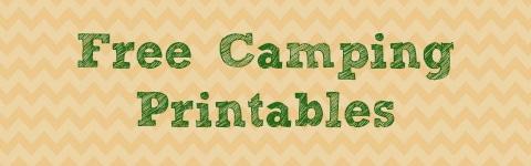 Free Camping Printables