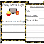 Free Family Movie Night Educational Packet