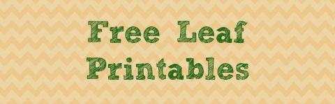 Free Leaf Printables