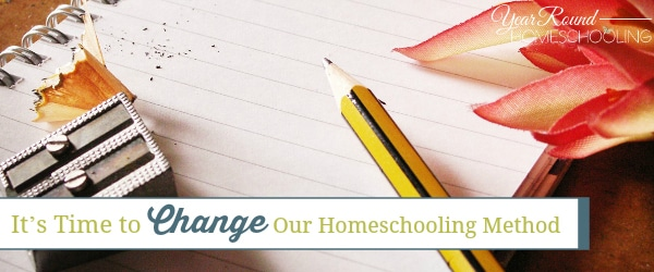 It's Time to Change Our Homeschooling Method
