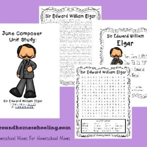 "June's Composer is Edward Elgar, the composer of the ""Graduation March"" as it's most commonly known. Learn more about him this month with this fun and FREE Unit Study!! :: www.yearroundhomeschooling.com"