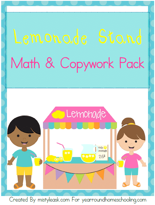 Lemonade Stand Math & Copywork Pack