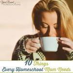 10 Things Every Homeschool Mom Needs Series + Free Homeschool Mom's Reading Pack!