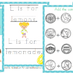 Free Lemonade Stand Math & Copywork Pack