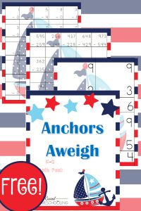 nautical, math, kindergarten, k-2, homeschool, homeschooling, worksheets, printable
