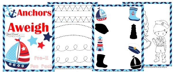 Free Nautical PreK Fun Pack