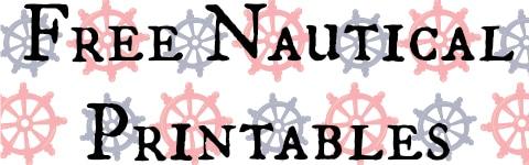Free Printable Nautical Alphabet Letters