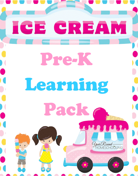 Ice Cream Pre-K Learning Pack