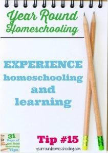 Year Round Homeschooling Tip #15