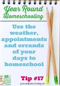 Year Round Homeschooling Tip #17