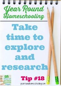 Year Round Homeschooling Tip #18
