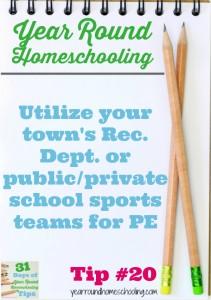 Year Round Homeschooling Tip #20