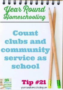 Year Round Homeschooling Tip #21