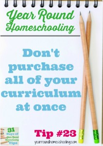 Year Round Homeschooling Tip #23